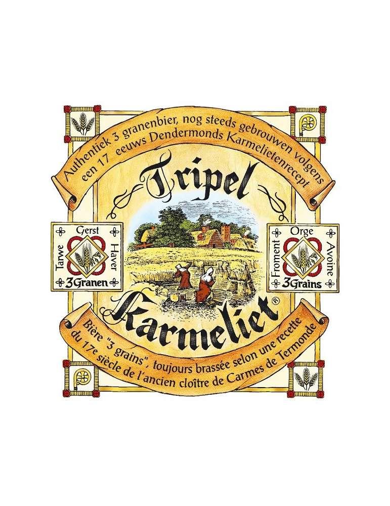 Etiqueta Tripel Karmeliet