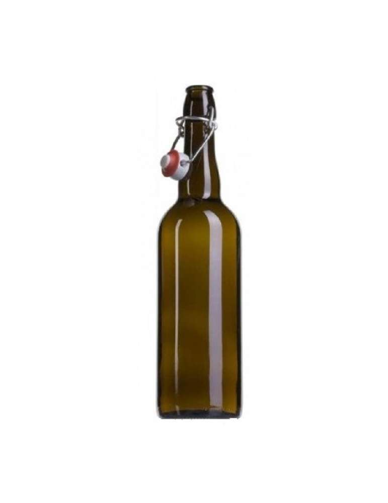 Botella de 75cl con tapón mecánico para cerveza
