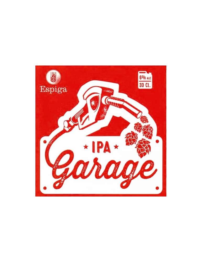 Etiqueta Cerveza Espiga Garage IPA