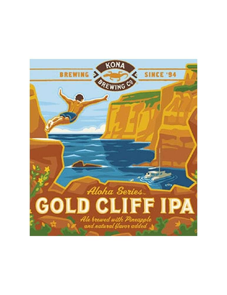 Etiqueta Cerveza Kona Gold Cliff IPA
